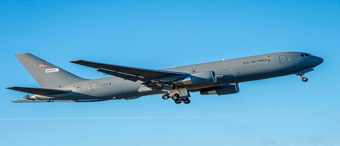 Successful first pilot flight of a refueling aircraft Boeing Air Force KC-46A